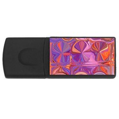 Candy Abstract Pink, Purple, Orange USB Flash Drive Rectangular (2 GB)