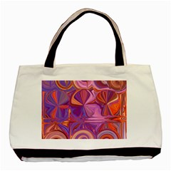 Candy Abstract Pink, Purple, Orange Basic Tote Bag by digitaldivadesigns