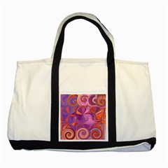 Candy Abstract Pink, Purple, Orange Two Tone Tote Bag by theunrulyartist