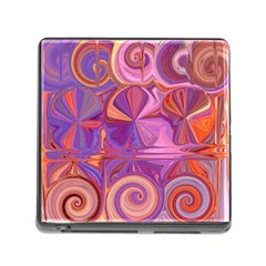 Candy Abstract Pink, Purple, Orange Memory Card Reader (square) by digitaldivadesigns