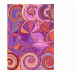 Candy Abstract Pink, Purple, Orange Large Garden Flag (two Sides) by digitaldivadesigns