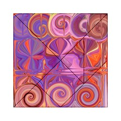 Candy Abstract Pink, Purple, Orange Acrylic Tangram Puzzle (6  X 6 ) by digitaldivadesigns