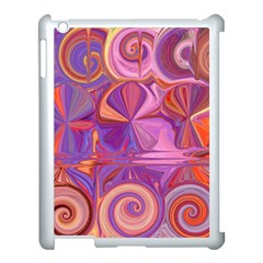 Candy Abstract Pink, Purple, Orange Apple Ipad 3/4 Case (white) by theunrulyartist