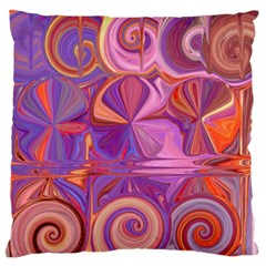 Candy Abstract Pink, Purple, Orange Standard Flano Cushion Case (two Sides) by theunrulyartist