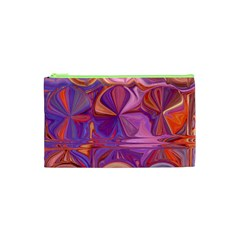 Candy Abstract Pink, Purple, Orange Cosmetic Bag (xs) by theunrulyartist