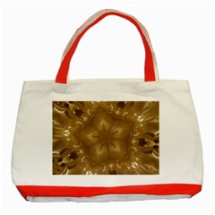 Elegant Gold Brown Kaleidoscope Star Classic Tote Bag (red) by yoursparklingshop