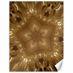 Elegant Gold Brown Kaleidoscope Star Canvas 12  X 16   by yoursparklingshop
