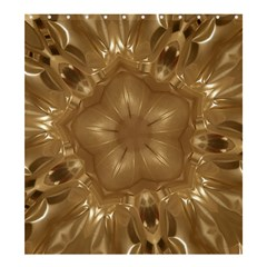 Elegant Gold Brown Kaleidoscope Star Shower Curtain 66  X 72  (large)  by yoursparklingshop