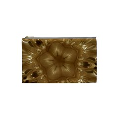 Elegant Gold Brown Kaleidoscope Star Cosmetic Bag (small)  by yoursparklingshop