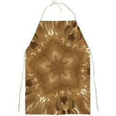 Elegant Gold Brown Kaleidoscope Star Full Print Aprons by yoursparklingshop
