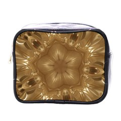 Elegant Gold Brown Kaleidoscope Star Mini Toiletries Bags by yoursparklingshop