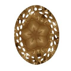 Elegant Gold Brown Kaleidoscope Star Ornament (oval Filigree)  by yoursparklingshop