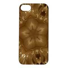 Elegant Gold Brown Kaleidoscope Star Apple Iphone 5s/ Se Hardshell Case by yoursparklingshop