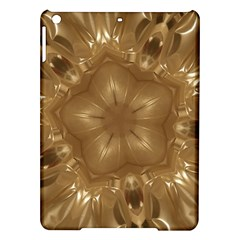 Elegant Gold Brown Kaleidoscope Star Ipad Air Hardshell Cases by yoursparklingshop