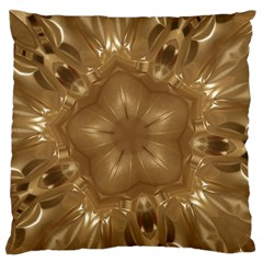 Elegant Gold Brown Kaleidoscope Star Standard Flano Cushion Case (two Sides)