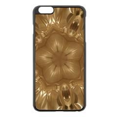 Elegant Gold Brown Kaleidoscope Star Apple Iphone 6 Plus/6s Plus Black Enamel Case by yoursparklingshop