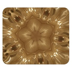 Elegant Gold Brown Kaleidoscope Star Double Sided Flano Blanket (small)  by yoursparklingshop