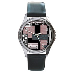 Collage  Round Metal Watch