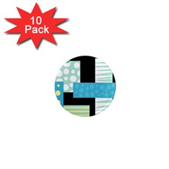 Blue Collage 1  Mini Magnet (10 Pack)  by Valentinaart