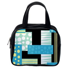 Blue Collage Classic Handbags (one Side) by Valentinaart
