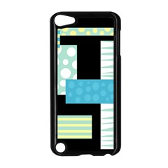 Blue Collage Apple Ipod Touch 5 Case (black) by Valentinaart