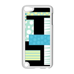 Blue Collage Apple Ipod Touch 5 Case (white) by Valentinaart