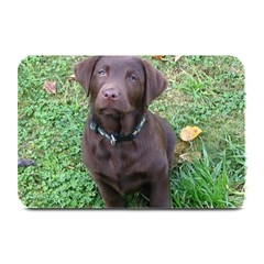 Chocolate Lab Pup Plate Mats by TailWags