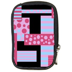 Pink Collage Compact Camera Cases by Valentinaart