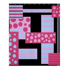 Pink Collage Shower Curtain 60  X 72  (medium)  by Valentinaart