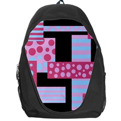 Pink Collage Backpack Bag by Valentinaart