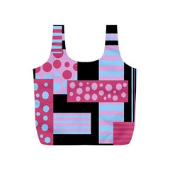 Pink Collage Full Print Recycle Bags (s)  by Valentinaart