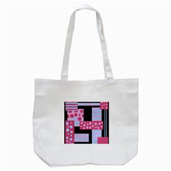 Pink Collage Tote Bag (white) by Valentinaart