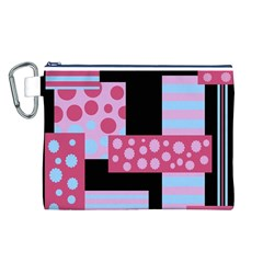 Pink collage Canvas Cosmetic Bag (L) by Valentinaart