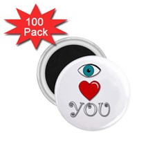 I Love You 1 75  Magnets (100 Pack)  by Valentinaart