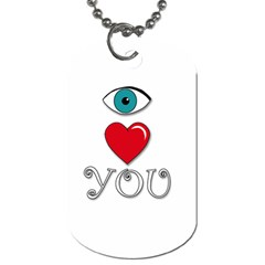 I Love You Dog Tag (one Side) by Valentinaart
