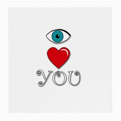 I Love You Medium Glasses Cloth by Valentinaart