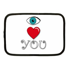 I Love You Netbook Case (medium)  by Valentinaart