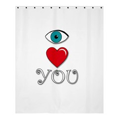 I Love You Shower Curtain 60  X 72  (medium)  by Valentinaart