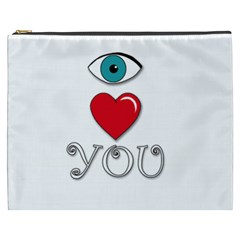 I Love You Cosmetic Bag (xxxl)  by Valentinaart