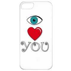 I Love You Apple Iphone 5 Classic Hardshell Case by Valentinaart