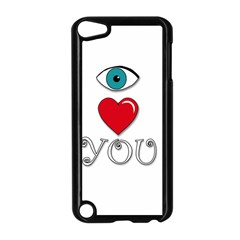 I Love You Apple Ipod Touch 5 Case (black) by Valentinaart