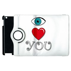 I love you Apple iPad 3/4 Flip 360 Case by Valentinaart