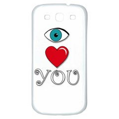 I Love You Samsung Galaxy S3 S Iii Classic Hardshell Back Case by Valentinaart