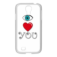 I Love You Samsung Galaxy S4 I9500/ I9505 Case (white) by Valentinaart