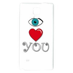 I Love You Galaxy Note 4 Back Case by Valentinaart