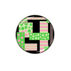 Green And Pink Collage Hat Clip Ball Marker (10 Pack) by Valentinaart