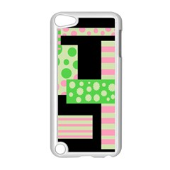 Green And Pink Collage Apple Ipod Touch 5 Case (white) by Valentinaart
