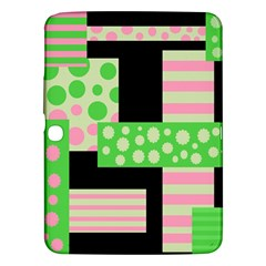 Green and pink collage Samsung Galaxy Tab 3 (10.1 ) P5200 Hardshell Case  by Valentinaart