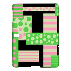 Green And Pink Collage Samsung Galaxy Tab S (10 5 ) Hardshell Case  by Valentinaart
