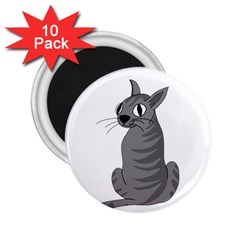 Gray Cat 2 25  Magnets (10 Pack)  by Valentinaart
